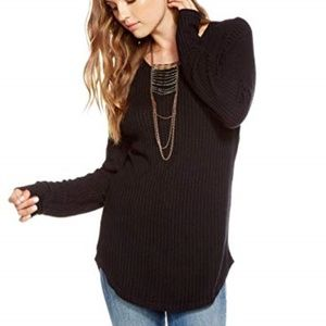 CHASER Thermal L/S Strappy Back Shirttail Tee